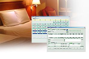 システム開発事業の製品:ホテルフロント業務用システム「ホテル運用管理システム」
